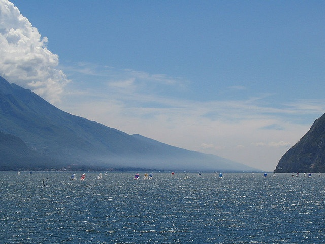 lake garda, looking south by phoebe ficus, via Flickr #lagodigarda #lakegarda #gardasee