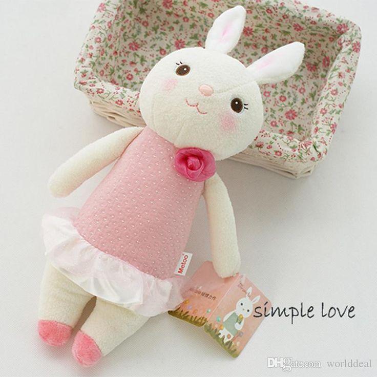 Много Прекрасный Кролик Плюшевые Куклы 37см Мультфильм Банни Детские Игрушки Подарочные Свадьба
