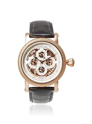 79% OFF Stuhrling Men's 150A.33151 Symphony Maestro II Black Stainless Steel Watch