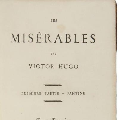 an analysis of the les miserables by victor hugo Les miserables literary analysis objective: to compose a thesis statement concerning victor hugo's novel les miserables and construct supports for it using direct quotations from the text.