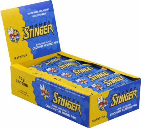 Honey Stinger Stinger Protein Bars Dark Chocolate Coconut 15 Bars HON2320166 Dark Chocolate Coconut - Over 30% Pure Honey With Quality Muscle Building Protein!*