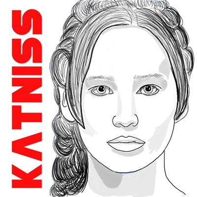 Katniss Everdeen is the amazing main character from The Hunger Games (both a fantastic book and movie). Jennifer Lawrence plays Katniss in the movie and she does a tremendous job bringing out every aspect of the character. Today I will show you how to draw Jennifer Lawrence as Katniss. I will show you a geometric / mathematical way to get some of the features closer to what they should be (opposed to just drawing it freehand).