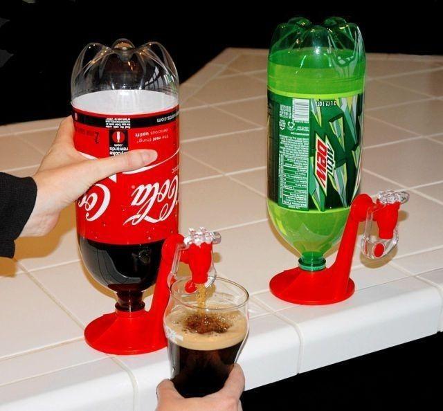 Maquina de coca-cola improvisada