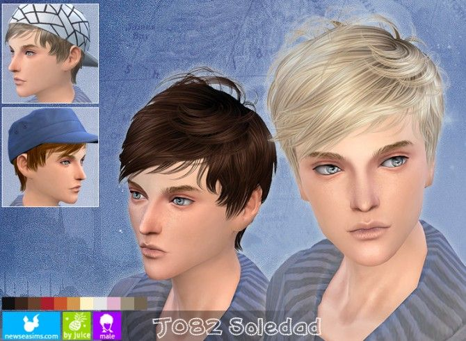 J082 Soledad hair for males at Newsea Sims 4 via Sims 4 Updates
