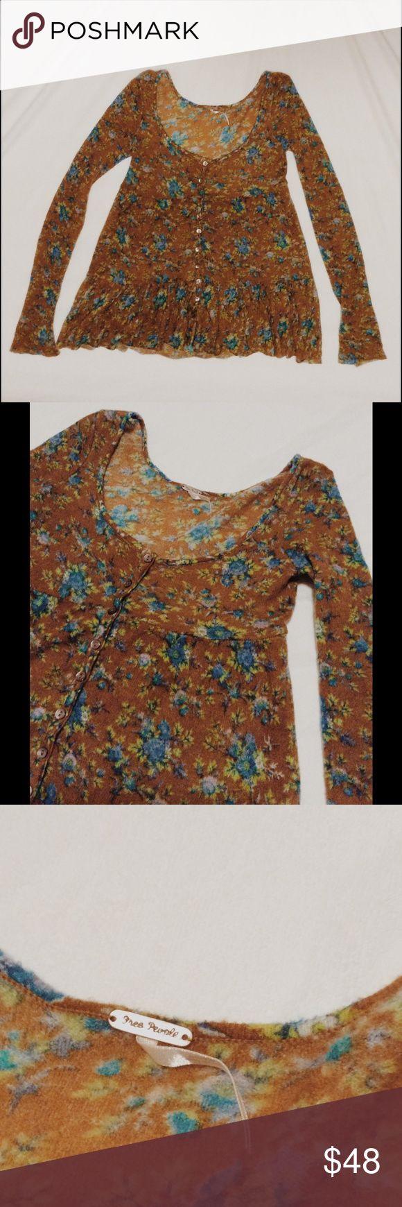 Selling this Free People floral cardigan sweater boho on Poshmark! My username is: wanderlust83. #shopmycloset #poshmark #fashion #shopping #style #forsale #Free People #Sweaters