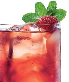 Raspberry Iced Tea made with Torani syrup.  We always have raspberry syrup on hand.