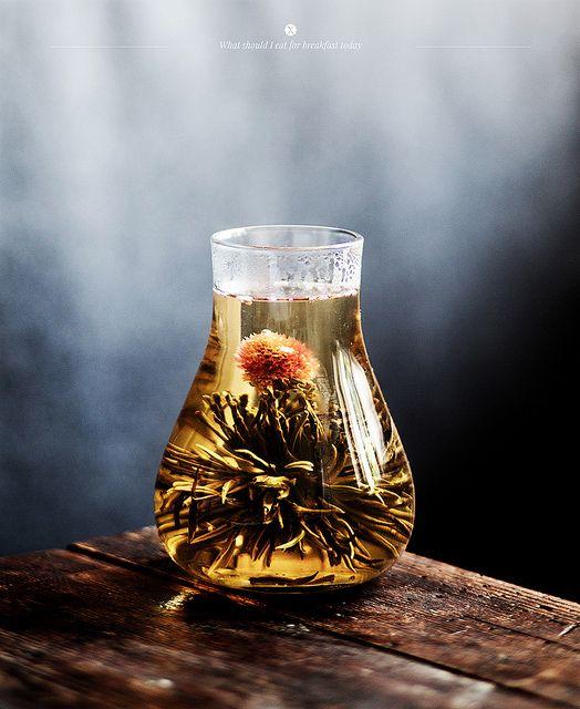 tea blooming flowers