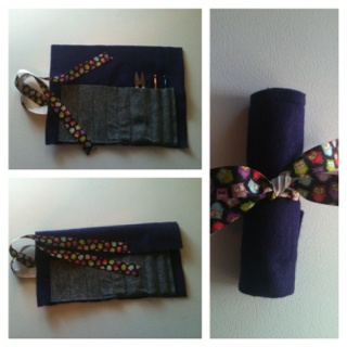I made this super easy crochet hook case / roll out of 1 and 1/2 pieces of felt and about 12 inches of ribbon. (no link).