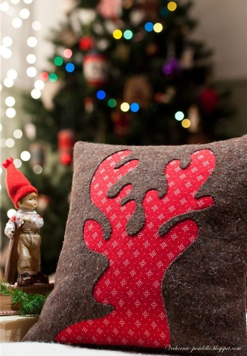 Christmas... reindeer pillow