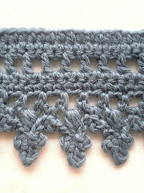 Crochet edge, crochet blanket | Happy in Red