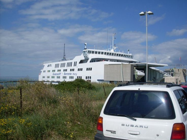 Sorrento Ferry docked at Queenscliff down on the Bellarine Peninsusla waiting to collect passengers and vehicles