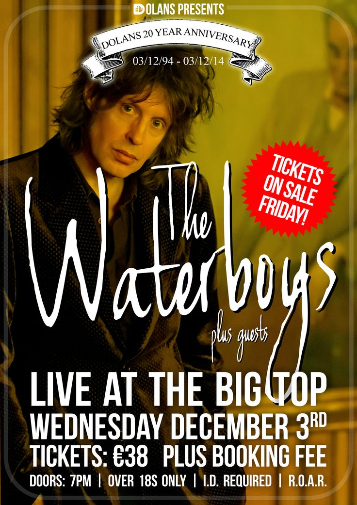 The Waterboys Live At The Big Top Wednesday 3 December 2014