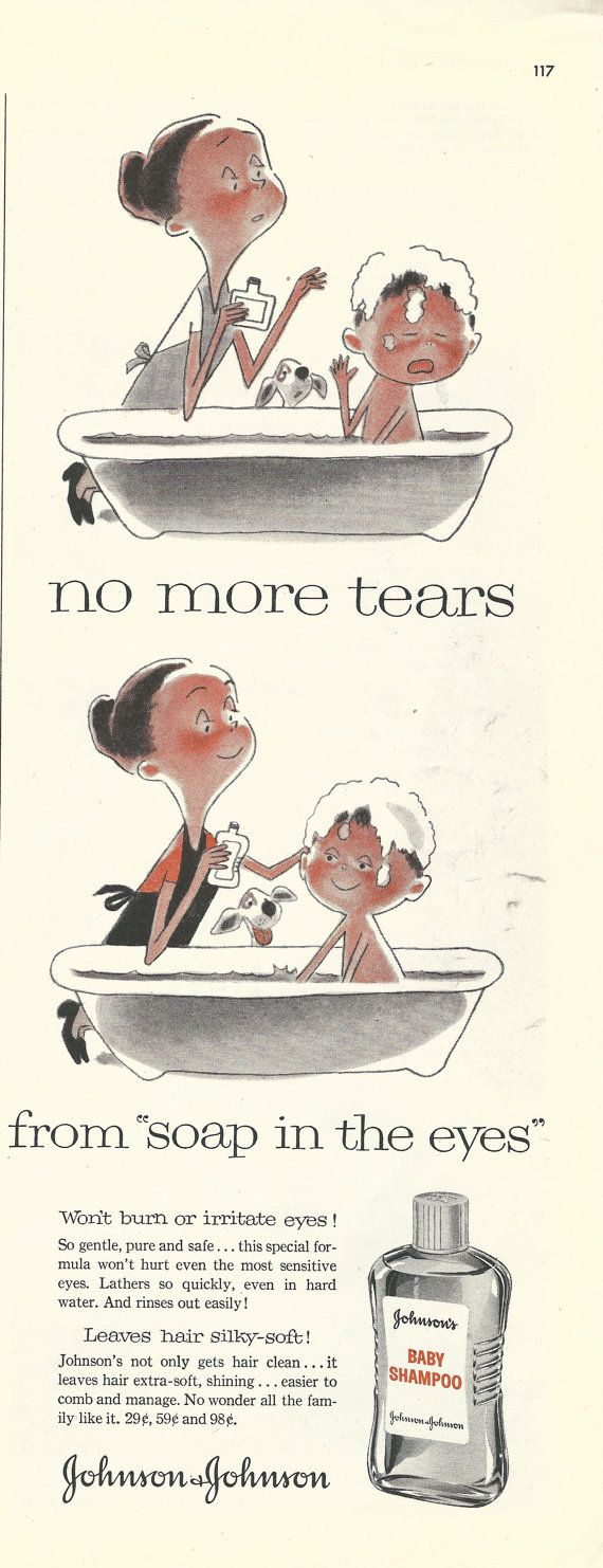 Johnsons Baby Shampoo Original 1957 Vintage Print Ad W