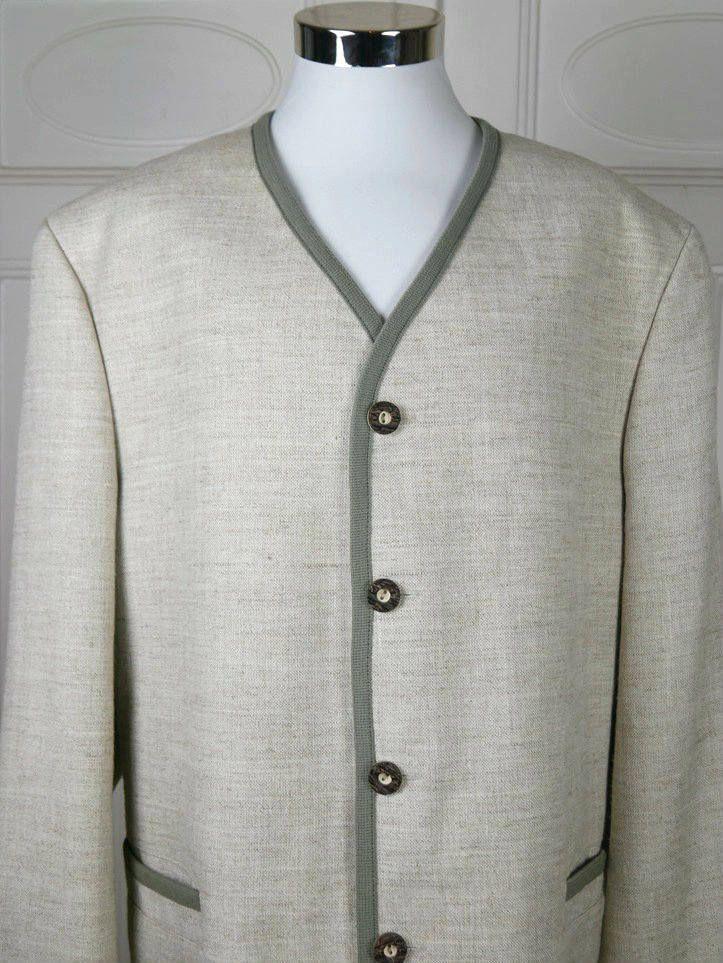Vintage Trachten Jacket, Bavarian Traditional Landhaus Linen Jacket, Cream Heather Color, Octoberfest German Festival Wear: Size 48/50 US/UK by YouLookAmazing on Etsy