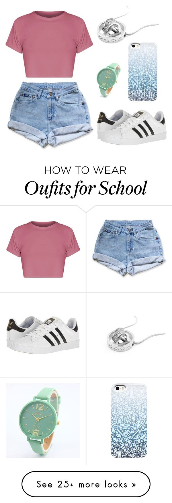 """Sem título #44"" by mariaju25 on Polyvore featuring Levi's and adidas"