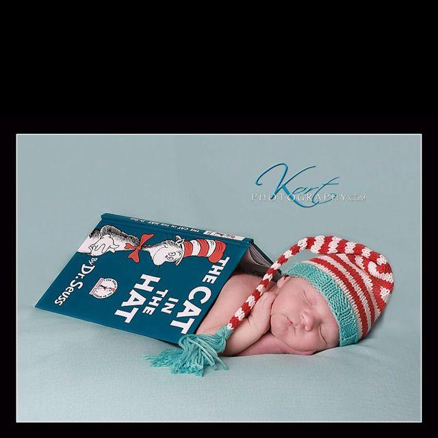 Dr. Seuss inspired newborn photos.