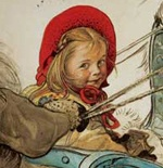 Carl Larsson... wow, this looks like me as a little girl! That's amazing.
