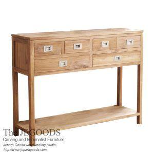 Jegoods Woodworking Studio - Teak Minimalist Manufacturer Indonesia produce console table teak minimalist contemporary furniture modern style. Mebel ekspor dari Indonesia. #teakfurniture #indonesiafurniture #jeparafurniture #javafurniture #teakjavafurniture