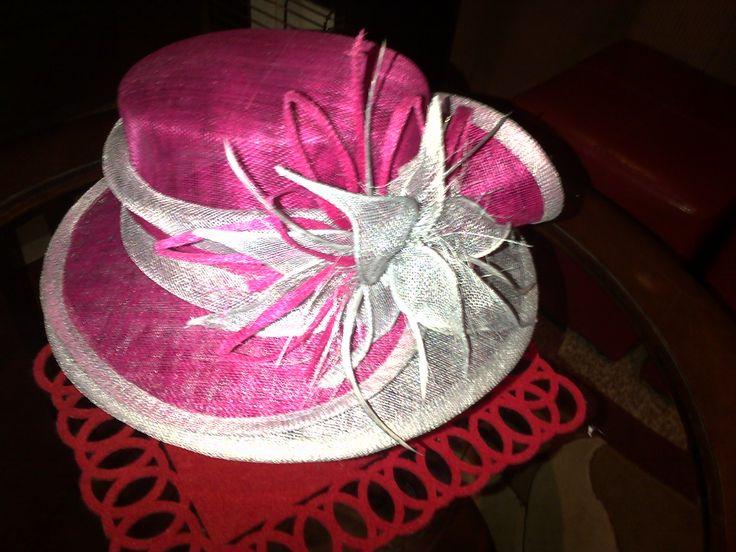Sinamay Hat, designed by Franchelle Hats. www.franchelle.co.za