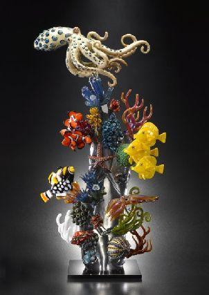 Coral reef, by Joe Peters (flamework glass)