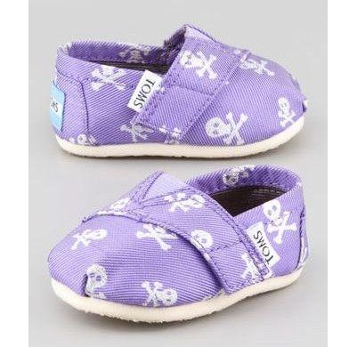 BabyZone: TOMS Purple Grosgrain-Skull Slip-On. My kid will be a pirate #ecu #arghh