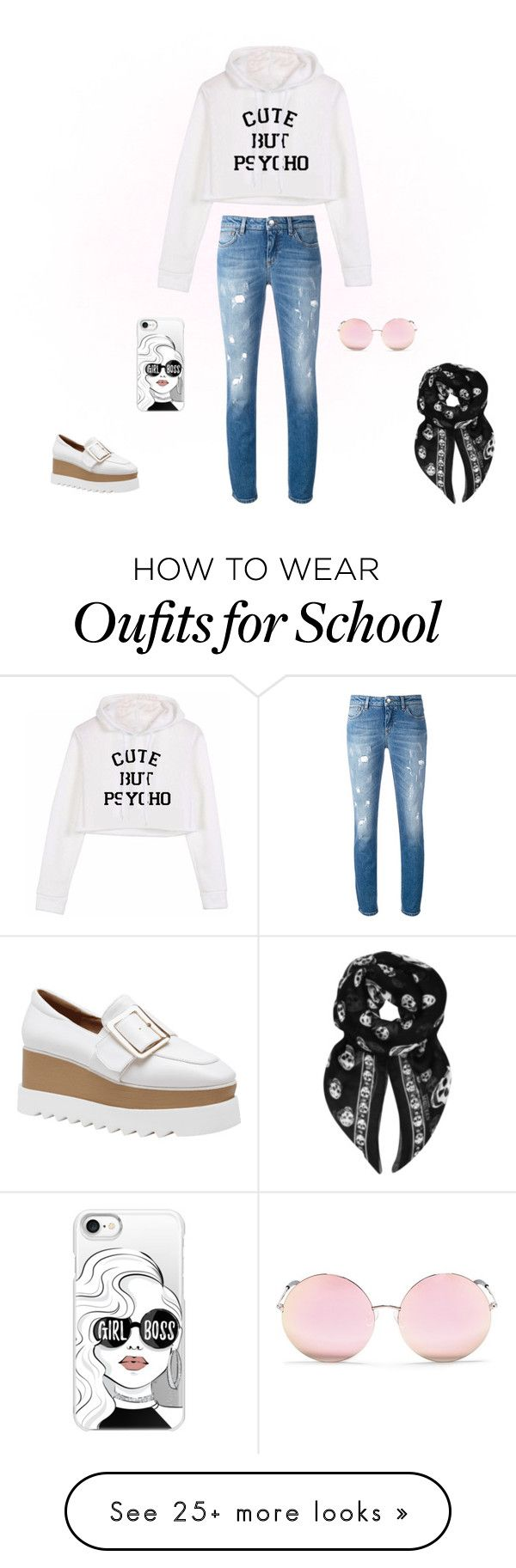 """Back To School"" by sharonvandoesburg on Polyvore featuring Dolce&Gabbana, Casetify, Matthew Williamson and Alexander McQueen"