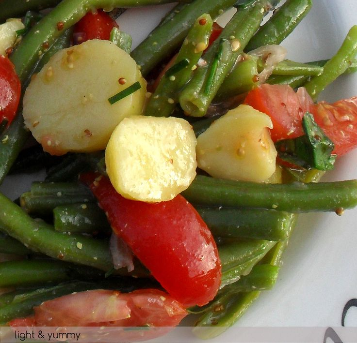 Potato Green Bean and Cherry Tomato Salad is filling and low in points ...