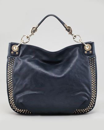 Luscious Mini Studded Hobo Bag, Navy  by Rebecca Minkoff at Neiman Marcus.