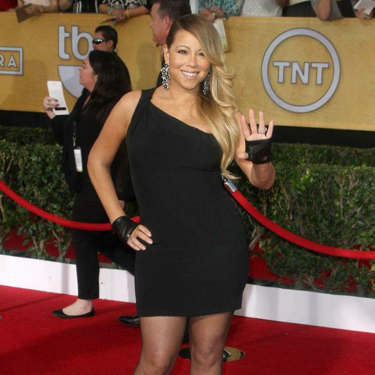 """Mariah Carey lors de la 20eme cérémonie des """"Screen Actors Guild Awards"""" au Shrine Exposition Center à Los Angeles. Le 18 janvier 2014."""