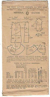 1920s Ladies Home Journal Sewing Pattern 5406 Uncut Flapper Cocktail Dress 36 B