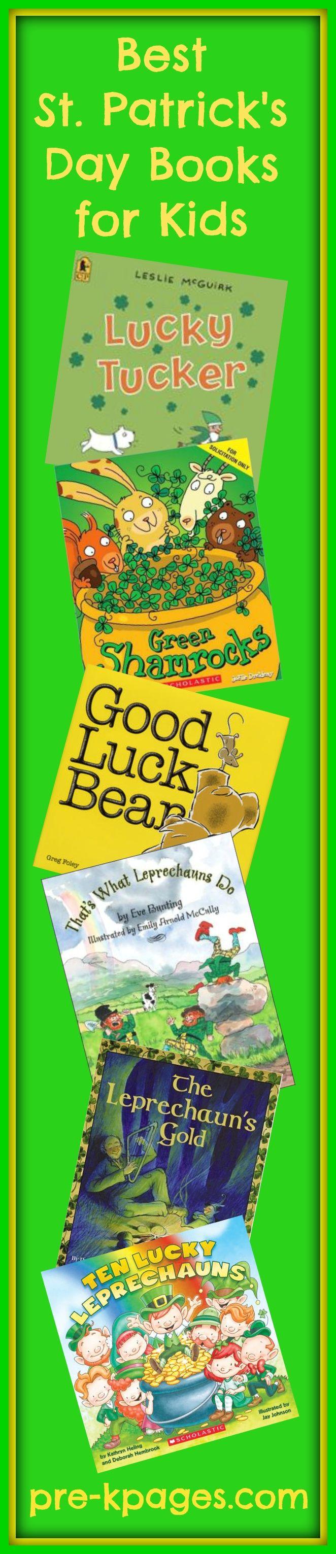 Best St. Patrick's Day Books for Preschool and Kindergarten.