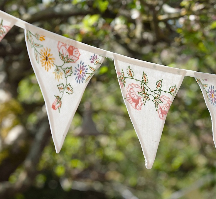vintage tablecloth bunting from Bunting Boutique