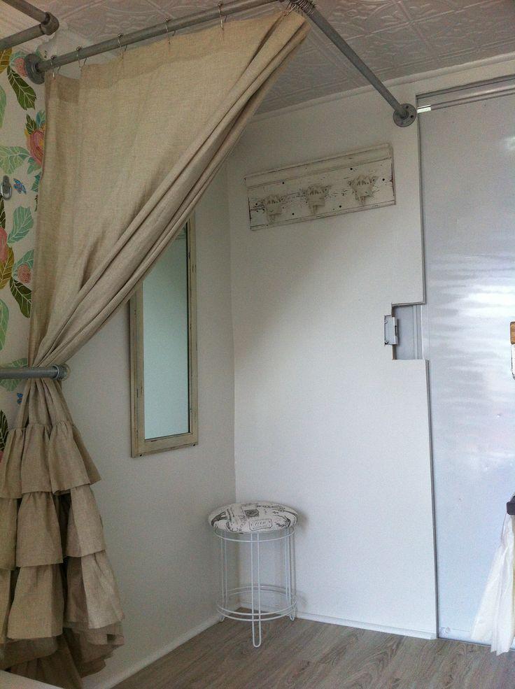 dressing room inside My Rolling Closet