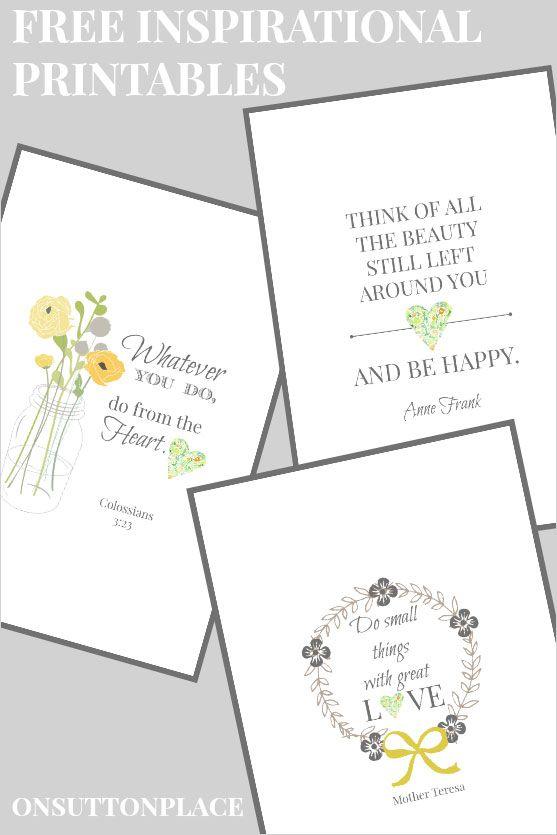 20 gorgeous free printables | favorite inspirational quotes - It's Always Autumn