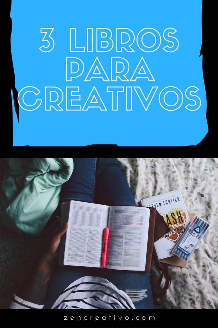 Hoy te recomendamos 3 libros para creativos, libros inspiradores y llenos de motivación que todo artista, escritor o diseñador debería leer.