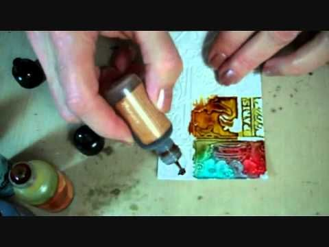 gesso and alcohol inks art tutorial. Very interesting technique.