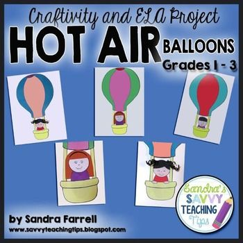 Here's an adorable little craftivity for the end of the year, or for the first few weeks of a new year. This activity creates a cute little hot air balloon paper doll. This package includes very clear, step-by-step instructions on how to make the balloon.