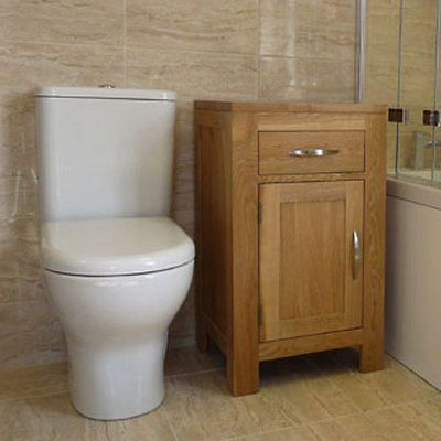 Solid oak #bathroom #furniture basin cabinet 45cm wide x 45cm #single door ivo45,  View more on the LINK: 	http://www.zeppy.io/product/gb/2/262349061149/