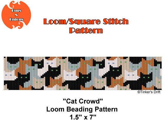 Loom Beading Pattern Cat Crowd Beaded Loom Bracelet Seed
