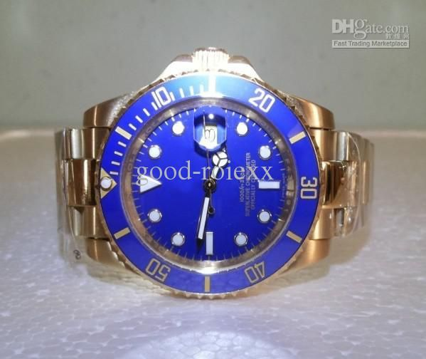 Custom Gold Plated Submariner-Style Watch