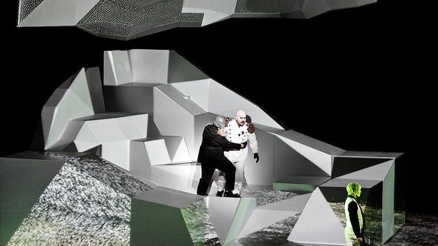 Idomeneo, Rè di Creta is an Italian language opera by Wolfgang Amadeus Mozart. In cooperation with Theater Bremen, URBANSCREEN conceived the stage design and visual composition for this production.  The opera premiered at Theater Bremen on March 27th, 2011.  Art Direction: Daniel Rossa (www.danielrossa.com), Till Botterweck 3D Operator: Peter Pflug, David Starmann Composition Assistant: Moritz Horn Videodocumentation: Jonas Wiese  A Theater Bremen production (www.theaterbremen.de) i...