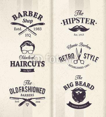 Sticker Barber Shop Emblems