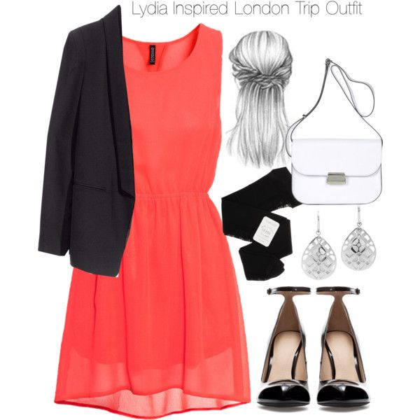 A fashion look from November 2013 featuring H&M dresses, H&M blazers and Gerbe tights. Browse and shop related looks.