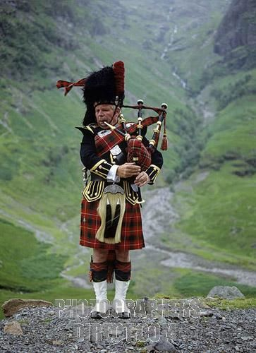 Scottish Highlands.  Pipers are everywhere in Scotland.  Don't forget to tip 'em whenever you listen to them for even a few moments.