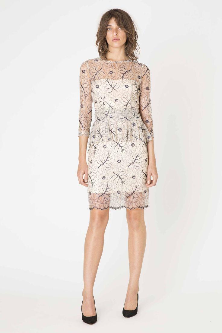 Ganni white lace dress