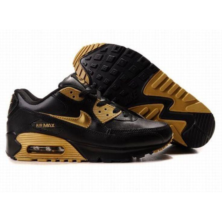 Nike Air Max 90 Black Gold Fashion , Price: 62.31€ - Ken Griffey Shoes