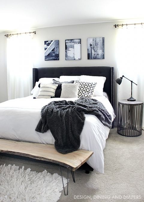 Best 25 Black Master Bedroom Ideas On Pinterest Black Leather Bed Black Headboard And Black
