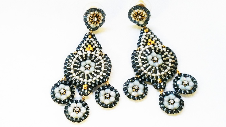 Miguel Ases earrings worn by Katie Couric