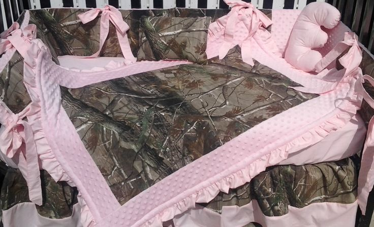 New 7 piece Real Tree brown CAMOUFLAGE baby by KustomKidsBedding, $325.00