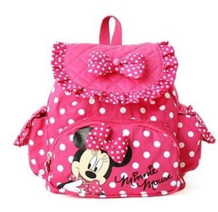 Cute Disney Minnie Mouse backpack for girls. Good age user is 9 mos up to 2T. This is perfect for her birthday. You can buy this backpack as a diaper bag/baby food bag/ or backpack for her where you put her ...